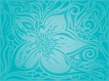La turquesa florece, diseño floral del día de fiesta del fondo adornado decorativo del vector ilustración del vector