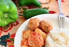 La Turquie Albondigas avec les légumes et le riz Image stock