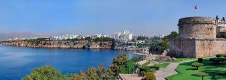 La Turquie, Antalya, bord de la mer. Panorama. Photographie stock libre de droits