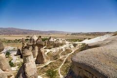 La Turquie, Cappadocia Roches exotiques dans la vallée de Pashabag (vallée de moines) Images libres de droits