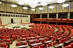 La Turquie dans le bâtiment du parlement Images stock