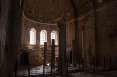 La Turquie, Demre, église de Saint-Nicolas, colonne antique images stock