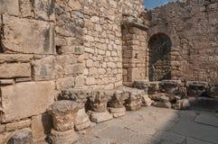 La Turquie, Demre, église de Saint-Nicolas, colonne antique photo stock