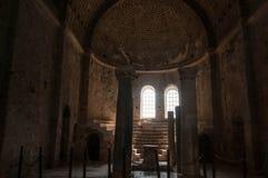 La Turquie, Demre, église de Saint-Nicolas, colonne antique photo libre de droits