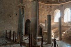 La Turquie, Demre, église de Saint-Nicolas, colonne antique photographie stock libre de droits