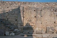 La Turquie, Demre, église de Saint-Nicolas, fragments du temple d'Artémis photo libre de droits