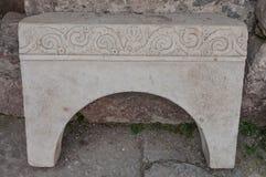 La Turquie, Demre, église de Saint-Nicolas, fragments du temple d'Artémis photos libres de droits