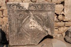 La Turquie, Demre, église de Saint-Nicolas, plat antique image libre de droits