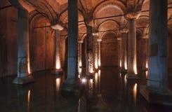 La Turquie, Istanbul, le réservoir de basilique Image stock