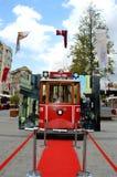La Turquie Istanbul Tram rouge et route rouge image libre de droits