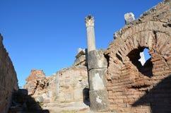 La Turquie, Izmir, colonne du grec ancien de Bergama Image libre de droits