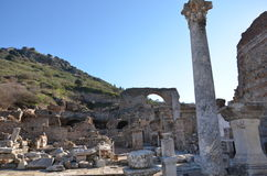 La Turquie, Izmir, le grec ancien de Bergama, ruines a dispersé au-dessus d'une zone ample Photo stock