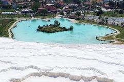 La Turquie - pamukkale (château de coton)   Photographie stock libre de droits