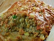 La Turquie, pomme de terre, pain de viande de courgette Photographie stock