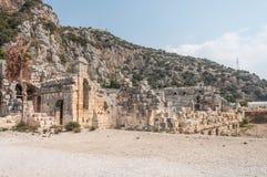 La Turquie, ville antique de Mirra, théâtre gréco-romain photo libre de droits