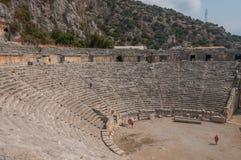 La Turquie, ville antique de Mirra, théâtre gréco-romain photographie stock