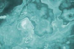 La turquoise éclairée découpe l'onyx en tranches de marbre images stock
