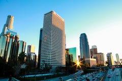 La turquoise a modifié la tonalité l'horizon de Los Angeles Photo stock