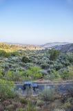 la Tutto ruota scala sopra la valle di Lecrin di alpujarran, Granada Fotografie Stock Libere da Diritti