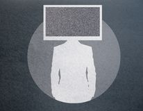 La TV a dirigé la silhouette d'homme d'affaires illustration libre de droits
