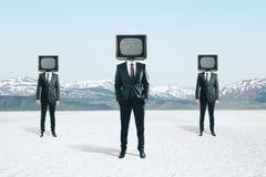La TV dirigió a hombres de negocios imagen de archivo libre de regalías