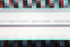 La TV raye le bruit statique, contexte de fond d'abstraction Photo libre de droits