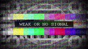 La TV a tordu le signal avec marqu? banque de vidéos