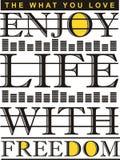 La typographie de graphiques apprécient Illustration Libre de Droits