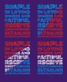La typographie de graphiques apprécient Image stock