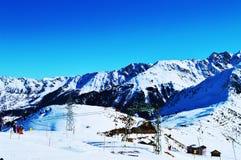 La Tzoumaz, place for skiing Stock Photography