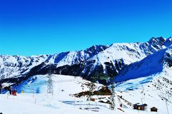 La Tzoumaz, posto per sciare Fotografia Stock