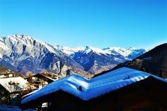 La Tzoumaz, Svizzera Fotografie Stock
