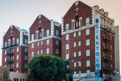 LA, U.S.A. - 30 OTTOBRE 2018: Un colpo della chiesa dell'edificio di Scientology a Los Angeles, California, U.S.A. Estate 2018 fotografie stock