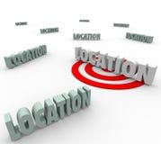 La ubicación 3d redacta el mejor lugar Live Work Real Estate Imágenes de archivo libres de regalías