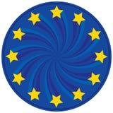 La UE badge Fotografía de archivo libre de regalías