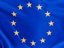 La UE señala por medio de una bandera Imágenes de archivo libres de regalías