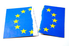 La UE señala por medio de una bandera Imagen de archivo