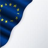 La UE señala por medio de una bandera libre illustration