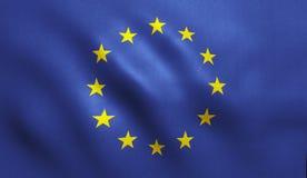 La UE señala por medio de una bandera Foto de archivo