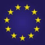 La UE señala por medio de una bandera Estrellas en un fondo azul Ilustración del vector libre illustration