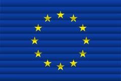 La UE señala por medio de una bandera Ilustración del vector libre illustration