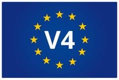 La UE V4 señala por medio de una bandera stock de ilustración