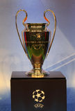 La UEFA ahueca el trofeo Imagen de archivo libre de regalías