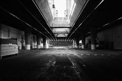 LA Underground (Black & White) Royalty Free Stock Photo