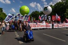 La ?une Europe pour toutes les ?Marches ont lieu ? travers l'Allemagne photographie stock