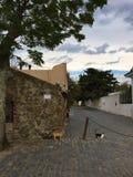 La UNESCO histórica de Colonia Uruguay de los cuartos imagenes de archivo