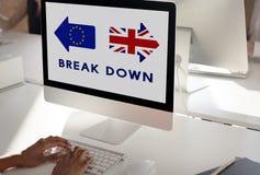 La unión europea de la licencia de Brexit Gran Bretaña abandonó concepto del referéndum Imágenes de archivo libres de regalías