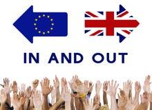 La unión europea de la licencia de Brexit Gran Bretaña abandonó concepto del referéndum fotografía de archivo libre de regalías