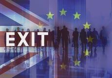 La unión europea de la licencia de Brexit Gran Bretaña abandonó concepto del referéndum Imagenes de archivo