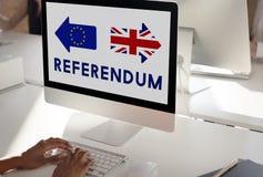 La unión europea de la licencia de Brexit Gran Bretaña abandonó concepto del referéndum Foto de archivo libre de regalías